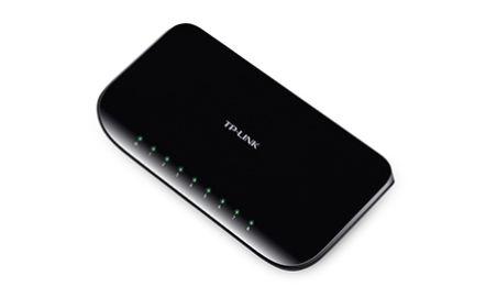 Switch non administrable 8 ports Gigabit 10/100/1000Mbps en plastique